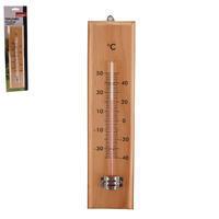 Teploměr dřevo pokojový/venkovní 26 cm