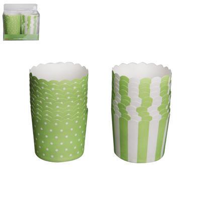 Košík cukrářský papír GREEN pr. 6 cm/20 ks