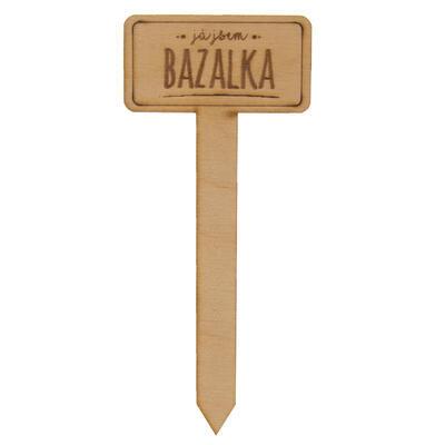 Zápich dřevo do květináče Bazalka