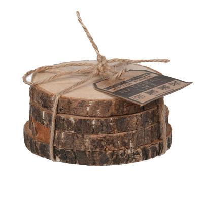 Podtácek dřevo 4 ks pr. 10 cm
