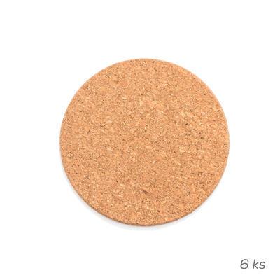 Prostírání korek 6 ks pr. 9,5 cm