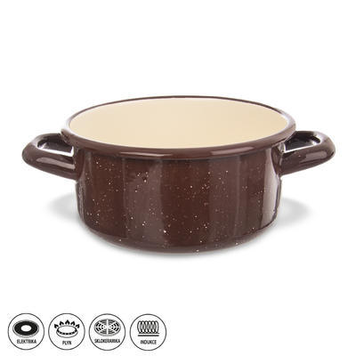 Kastrol smalt BROWN 1 l TM2
