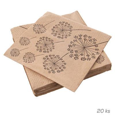 Ubrousek papír Pampelišky 20 ks 33x33 cm