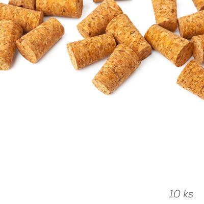 Zátka korek 10 ks 2,3/2x2,6 cm