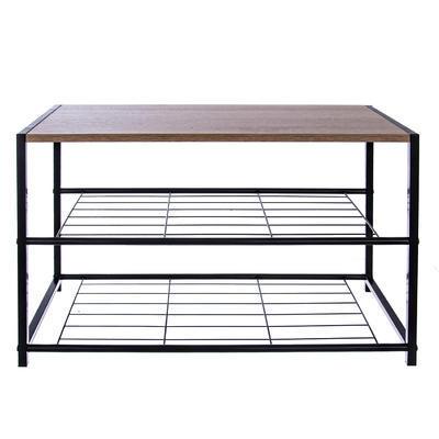 Botník kov/dřevo 2 patra