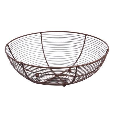 Košík na ovoce drát pr. 30 cm BROWN