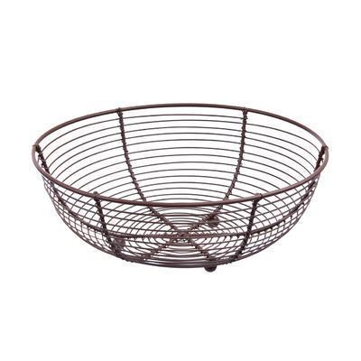 Košík na ovoce drát pr. 25 cm BROWN
