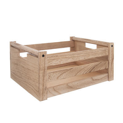 Bedýnka dřevo dekorace NATURAL 31x21x14 cm