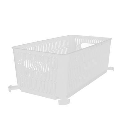 Košík UH NESTA stohovatelný bílý 29x16,5 cm