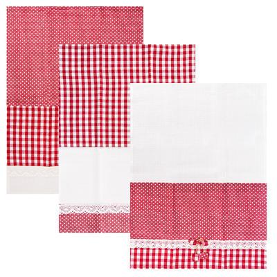 Utěrka kuch. bavlna DOT GIFTY 3 ks červená
