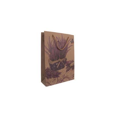 Taška dárková 19x24,5x8 cm LEVANDULE