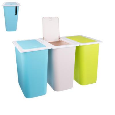 Koš odp. na tříděný odpad 13 l, 3 ks