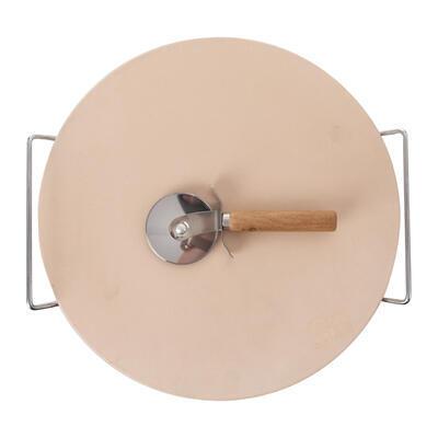 Kámen na pečení kamenina/drát+kráječ pr. 33 cm