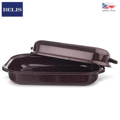 Pekáč smalt hnědý BELIS 37,5x22,5 cm víko