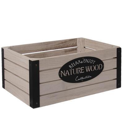 Bedýnka dřevo/kov RUSTIC 31x21x13 cm