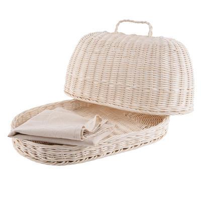 Chlebovka rattan ovál + utěrka