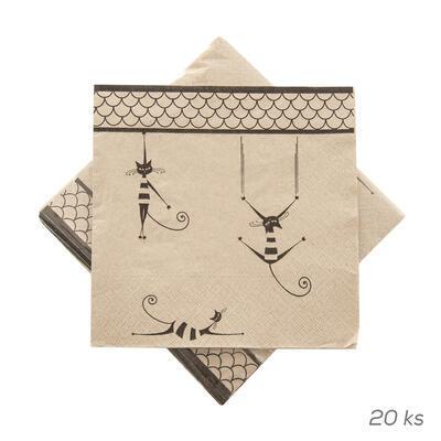 Ubrousek papír KOČKY 20 ks 33x33 cm