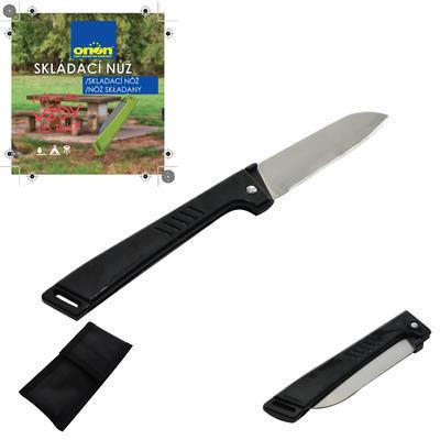Nůž skládací nerez/UH+pouzdro