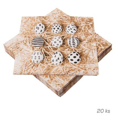 Ubrousek papír Malá vajíčka 20 ks 33x33 cm