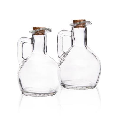Láhev sklo+víčko ocet/olej 2 ks