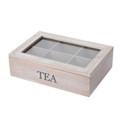 Box dřevo/UH na čaj TEA