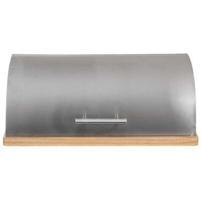Chlebovka nerez/dřevo 39x28x15 cm